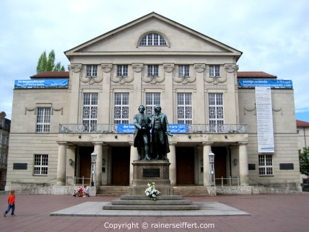 Theater, Monument of Schiller and Goethe