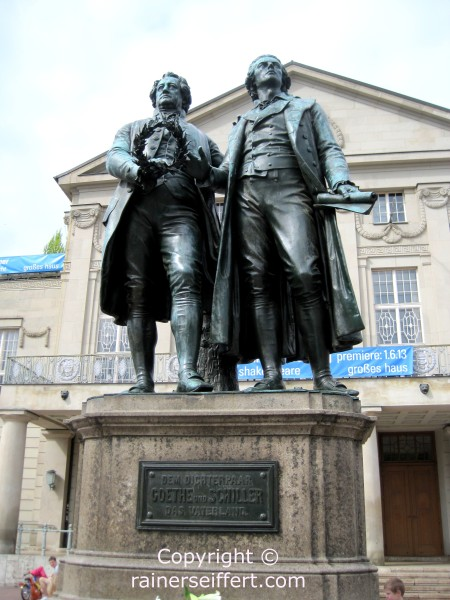 Monument of Schiller and Goethe